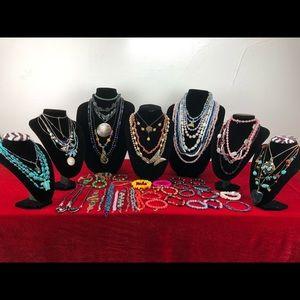 Stones Quartz Necklace Bracelet Lot